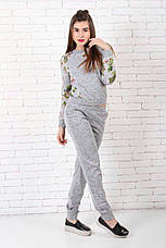 Женский костюм №211 серый, фото 2