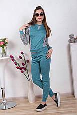 Женский костюм №211 бирюза, фото 2