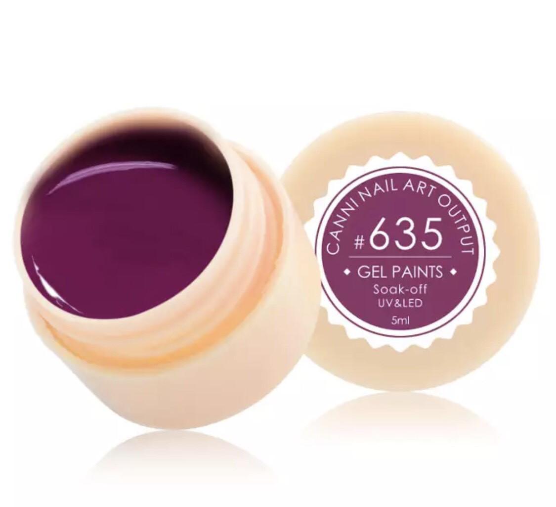 Гель-краска CANNI 635 (пастельный сливовый), 5 мл