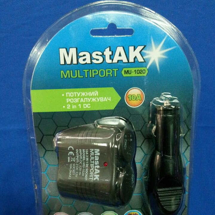 Разветвитель прикуривателя  MastAK MU-1020