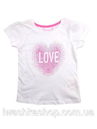 Белая футболка для девочки, Primark р. 104