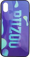 Чехол-накладка PUZOO Glass Printing with TPU Visions iPhone X Purple, фото 1