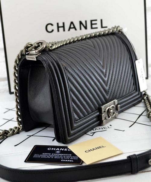 8c3271ae3377 Женская сумка CHANEL Le Boy Chevron Flap (9609)  продажа, цена в ...