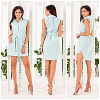 Женское платье-рубашка коттон