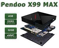 Смарт ТВ Приставка Pendoo X99 MAX, 4/32, RK3399, Smart TV Box, IPTV