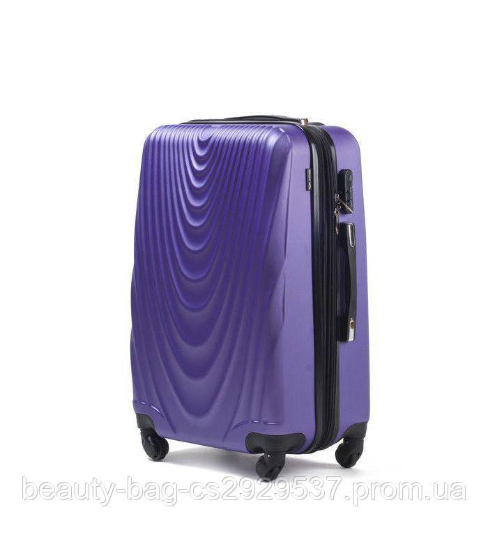 Чемодан пластиковый маленького размера Wings 304 Mini фиолетовый