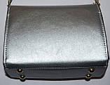 Женский модный черный клатч с глиттером на цепочке 18*13 см, фото 2