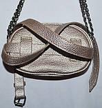 Женский молодежный клатч-пояс с глиттером на цепочке 18*12 см, фото 2
