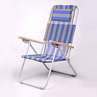 """Кресло-шезлонг """"Ясень"""" d20 мм (текстилен сине-жёлтый), фото 1"""