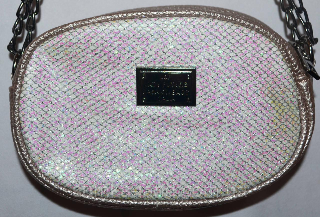 Женский молодежный клатч-пояс на цепочке 18*12 см