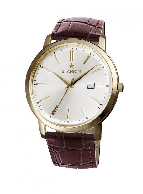 Годинник STARION A570 Ladies G/Silver коричневий рем.
