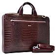 Кожаная мужская сумка для документов Desisan, фото 4