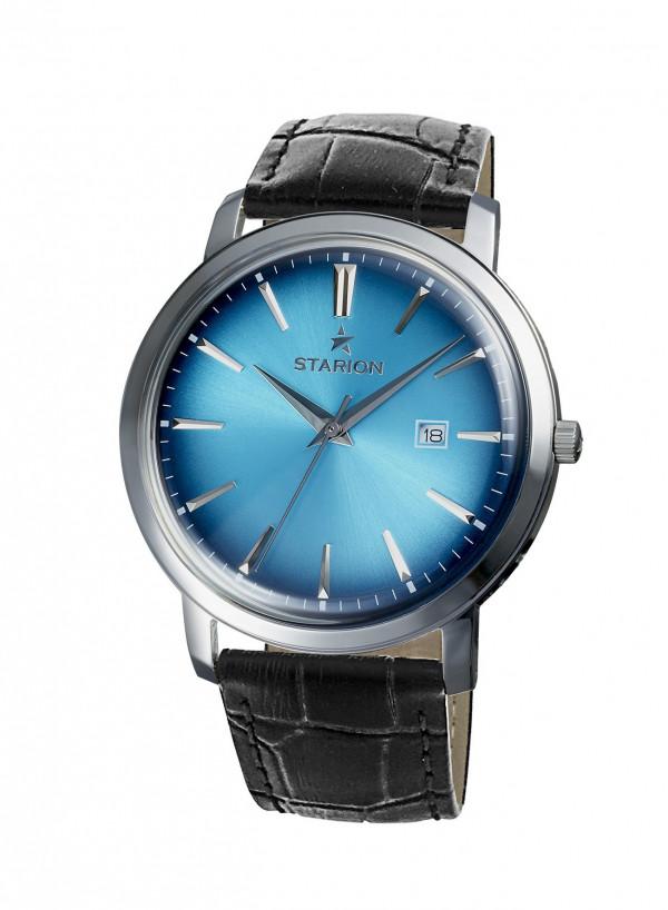 Годинник STARION А570 Ladies S/Blue чорний рем.