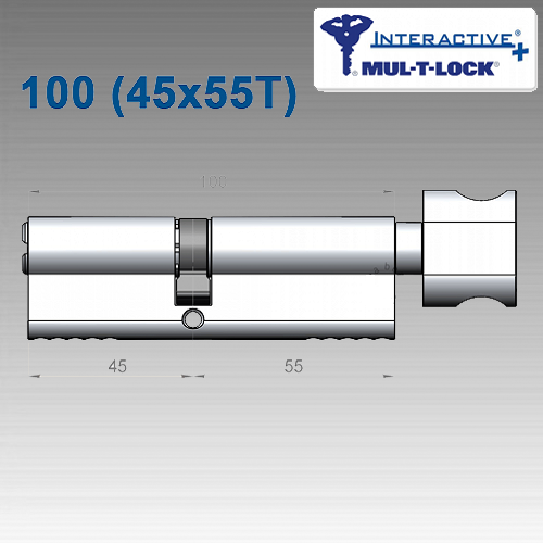 Цилиндр Mul-T-Lock Interactivе+ 100 мм (45х55T)