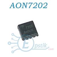 AON7202, (7202), MOSFET транзистор N канал, 30В, 40А, DFN 3x3