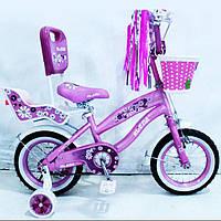 Велосипед детский 12 дюймов RUEDA 12-03B цвет розовый