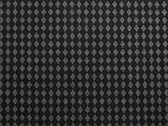 Ткань трикотаж двухсторонний ромбики, серый