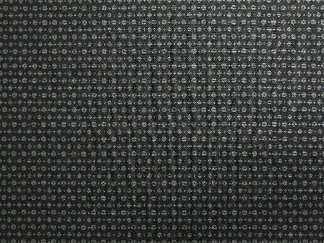 Трикотаж двухсторонний геометрическая россыпь, черный
