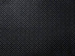 Ткань трикотаж двухсторонний геометрический, темно-синий