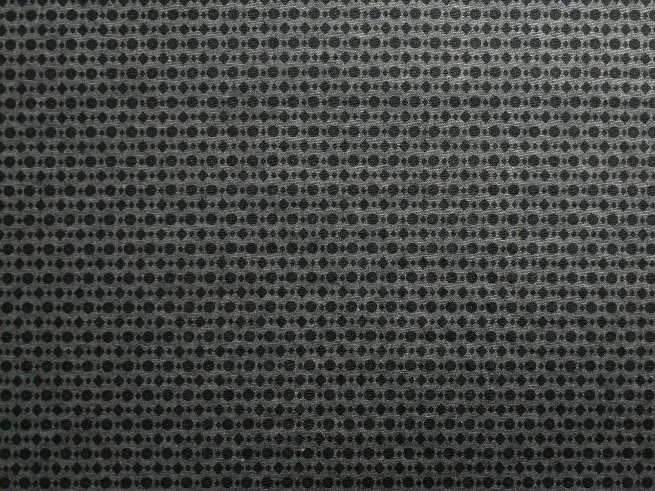 Трикотаж двухсторонний геометрическая россыпь, серый