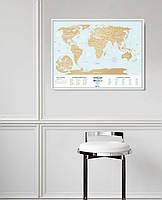 Скретч карта мира Travel Map Holiday Lagoon