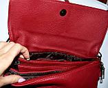 Женский красный клатч-конверт на несколько отделений 27*16 см, фото 2