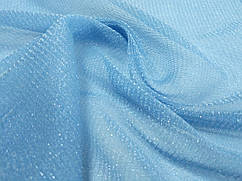 Ткань сетка люрекс, голубой