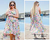 Платье без рукав свободный фасон хвост софт 42-44,46-48, фото 1