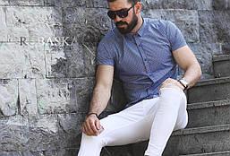 Рубашка мужская короткий рукав Rubaska Турция,р.M,L