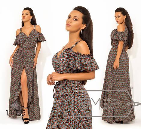 Платье на запах с открытыми плечами, фото 2