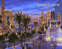 Раскраска по номерам Вечер в Вегасе худ. Финале, Роберт (VP036) 40 х 50 см, фото 1