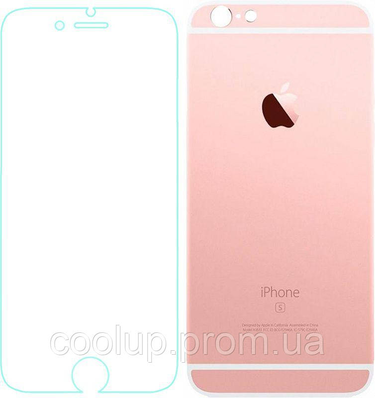 Защитное стекло TOTO Metal Tempered Glass 0.2 mm front and back iPhone 6/6s Rose Gold