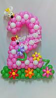 Двойка из воздушных шаров для детского дня рождения