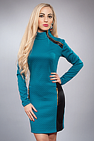 Платье с вставками из кожи и замочками, фото 2