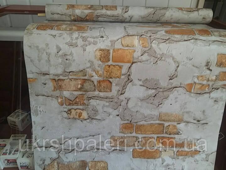 Обои Стена 5583-02,виниловые, супермойка,в рулоне 5 полос по 3 метра,ширина 0.53 м