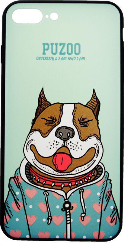 Чехол-накладка PUZOO Artdog Phone iPhone 7 Plus/8 Plus Green Baby