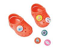 Обувь для кукол Беби Борн сандали кроксы оранжевые Baby Born Zapf Creation  822067 7a4a70dadc449