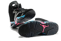 Женские баскетбольные кроссовки Air Jordan Retro 6 (BlackPink/Flash/MarinaBlue)