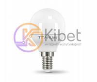 Лампа светодиодная E14, 5W, 4100K, G45, Titanum, 420 lm, 220V (TL-G45-05144)