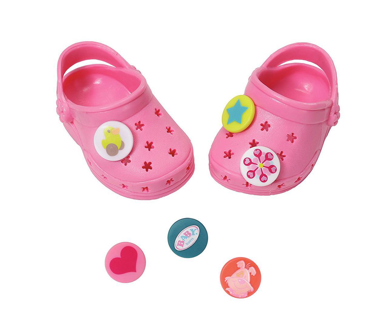 Обувь для кукол Беби Борн сандали кроксы розовые Baby Born Zapf Creation 822067