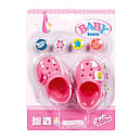 Обувь для кукол Беби Борн сандали кроксы розовые Baby Born Zapf Creation 822067, фото 2