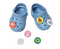 Обувь для кукол Беби Борн сандали кроксы синие Baby Born Zapf Creation  822067 a219f060559df