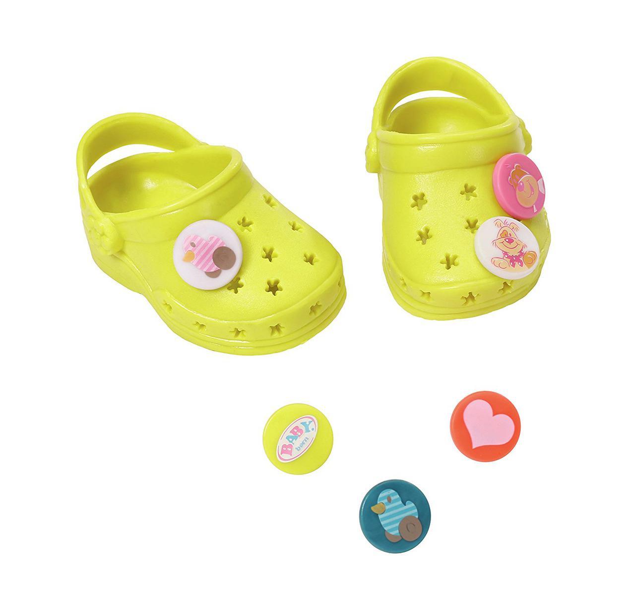 Кроксы куклы Беби Борн желтые Baby Born Zapf Creation 822067