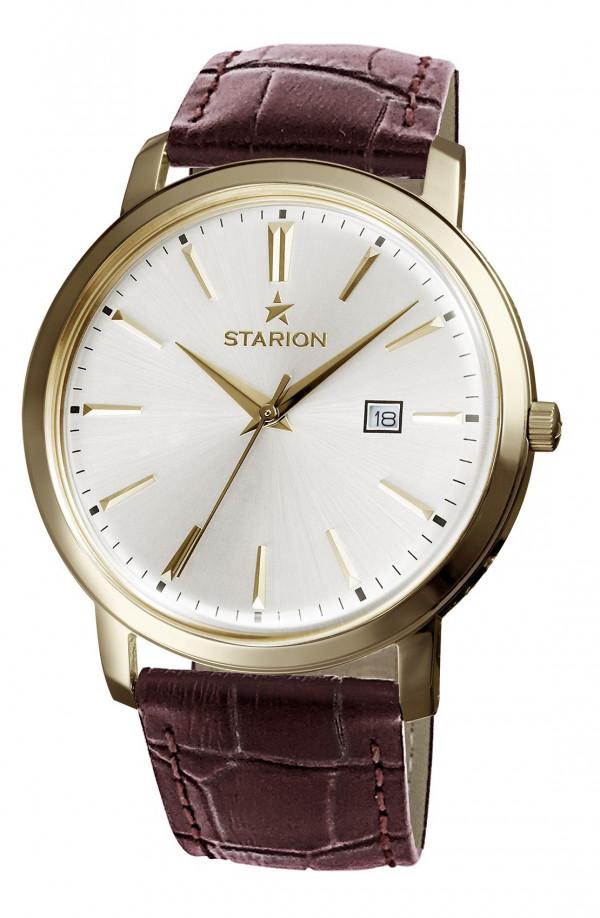 Годинник STARION A570 Gents G/Silver коричневий рем.