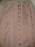 Парео мужское банное махровое (светло-коричневое) 70*140, фото 1