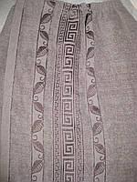 Парео мужское банное махровое (серое) 70*140