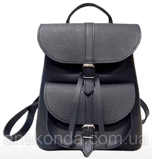 124 Натуральная кожа Городской рюкзак синий Кожаный рюкзак Из натуральной кожи Рюкзак женский синий рюкзак