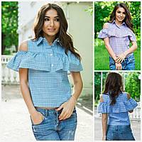 Женская рубашка в клетку 16464, фото 1