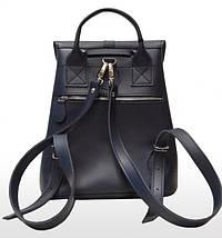 124 Натуральная кожа Городской рюкзак синий Кожаный рюкзак Из натуральной кожи Рюкзак женский синий рюкзак, фото 3