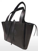 261 Сумка-шоппер женская натуральная кожа, черный, фото 2
